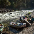 The camp kitchen at Tango on the Selway River.- 10 Great Rafting Trips in the Rocky Mountains