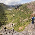Much of the Via Ferrata traverses a narrow path cut along a cliff face.- Colorado's Best Day Hikes