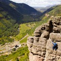 The via ferrata at Telluride is scary but safe because of cables in the wall.- 2019: The Year to Tackle Your Fears + Try New Things