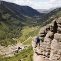 Edging along the Main Event on the Via Ferrata.- Rocky Mountain High: Seven Days in Colorado