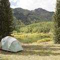 Dispersed camping at Priest Lake.- Guide to Camping in Colorado's San Juan Mountains