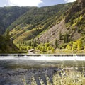 The Crystal Dam near East Portal Campground.- Black Canyon of the Gunnison National Park