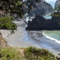 First sight of Secret Beach.- Navigating the Oregon Coast Trail