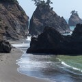 Waves calmly wash upon the shore at Secret Beach.- Guide to the Samuel H. Boardman State Scenic Corridor