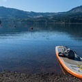 Preparing for a paddle on Dexter Reservoir.- 10 of Eugene's Best Swimming Holes