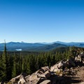 The first great view on the trail up to Diamond Peak. The summit trail leaves just a little farther down the Pacific Crest Trail.- Oregon's Best Backpacking Trips