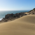 Wind-blown sand at Indian Sands, Oregon.- Sink Your Toes into Miles of Sand