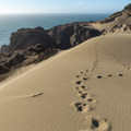 Footprints that other visitors left behind at Indian Sands.- Samuel H. Boardman State Scenic Corridor