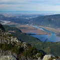 Looking over Vancouver and Vancouver Island on the horizon from Golden Ears Summit.- Best Day Hikes near Vancouver, B.C.