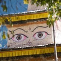The ever-present eyes of Buddha on stupas overhead along the Manaslu Circuit.- Rethinking Leave No Trace: Increasing Your Cultural Awareness