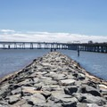 The jetty at the southwestern end of Sandy Point State Park. - 10 Must-see Beaches Near the Chesapeake Bay