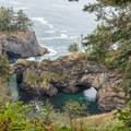 Overcast days are a great time to visit Natural Bridges Viewpoint because there is no reflection.- 3-Day Itinerary for Brookings, Oregon