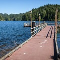 Eel Lake: The fishing dock at William M. Tugman State Park.- Oregon's 60 Best Lakes for Summer