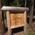Welcome sign to Thielsen Forest campground.- Camping Near Crater Lake National Park