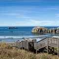 An elaborate staircase leads down to the beach from Kronenberg County Park.- 3-Day Itinerary for Bandon, Oregon