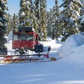 Groomer on the Mainline Trail, Callaghan Country.- Winter Backcountry Delights in British Columbia's Callaghan Country