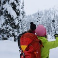 En route to Journeyman Peak.- Winter Backcountry Delights in British Columbia's Callaghan Country