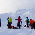 Backcountry ski tour en route to Journeyman Peak.- Winter Backcountry Delights in British Columbia's Callaghan Country