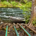 The Olallie Campground boat ramp on the McKenzie River.- Exploring Oregon Watersheds: Adventure Brews