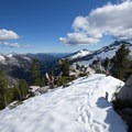 Looking down the Canyon Creek watershed. - Hiking in the Trinity Alps