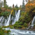 Colors changing below the falls.- McArthur-Burney Falls Memorial State Park