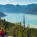 The view from the Howe Sound Lookout, Shannon Falls Provincial Park.- Best Day Hikes near Vancouver, B.C.