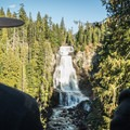 Checking out the falls.- Vancouver B.C.'s Incredible Waterfalls