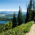 Score nice views of Bradley Lake and Taggart Lake during the ascent to Surprise and Amphitheater Lakes.- Best Hiking in Grand Teton National Park