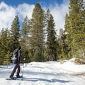 A snowshoer ascends the route to Andesite Peak.- 5 Reasons to Visit Truckee in the Winter