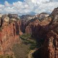 Alternate view from Angels Landing. - Utah's Five National Parks