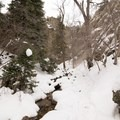The ungroomed trail to Hidden Falls runs along the creek.- 5 Safe and Easy Ways to Enjoy Winter in the Wasatch