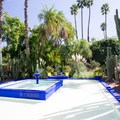 Majorelle Blue square fountain, Jardin Majorelle.- Add a Stamp to Your Passport
