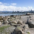 View northeast toward Vancouver from Kitsilano Beach.- Vancouver B.C.'s Best Beaches + Swimming Holes