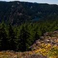 Tumble Lake from the Dome Rock Trail.- Dome Rock + Tumble Lake Hike