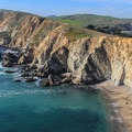 The Chimney Rock Trail traverses a narrow peninsula with Drake's Bay to the east and the Pacific Ocean to the west.- California's 60 Best Day Hikes
