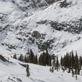 The return route between Peak Lake Ski Hut and Wolverton.- Backcountry Skiing in California