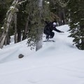 Finding some fun among the trees on Waterhouse Peak.- The Ultimate Ski Guide to Tahoe's Backcountry