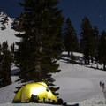 Ridge Lakes winter camp.- Northern California Winter Road Trip