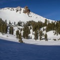 View toward Mount Diller (9,087 ft) from Ridge Lakes.- Lassen Volcanic National Park