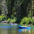 Rafters enjoying the float down the Truckee River.- 3-Day Weekend Itinerary in Tahoe, CA