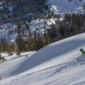 Early season turns near Carson Pass, California.- Get Your Legs In Shape for Ski Season