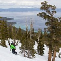 Well-spaced glades on Rubicon Peak's east aspect.- Backcountry Skiing in California