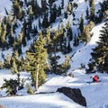 Crater Lake bowl, Red Lake Peak.- Backcountry Skiing in California