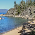 Calawee Cove backed by Rubicon Point in D.L. Bliss State Park.- California's 35 Best Swimming Holes