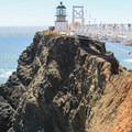 Point Bonita Lighthouse in the Marin Headlands.- Iconic Lighthouses of the West Coast
