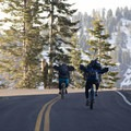 Before the Lassen Loop Road/Highway 89 is opened to vehicles each spring, the road opens to bicycles.- Lassen Volcanic National Park