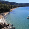Calawee Cove and Lester Beach at D.L. Bliss State Park.- 3-Day Weekend Itinerary in Tahoe, CA