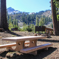 Southwest walk-in campground.- Lassen Volcanic National Park