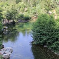 Oregon Creek Swimming Hole on the Main Fork of the Yuba River.- Examining The Sacramento Watershed: The Conflicts