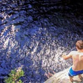 Contemplation at North Fork Falls.- 14 Incredible Swimming Holes in Northern California